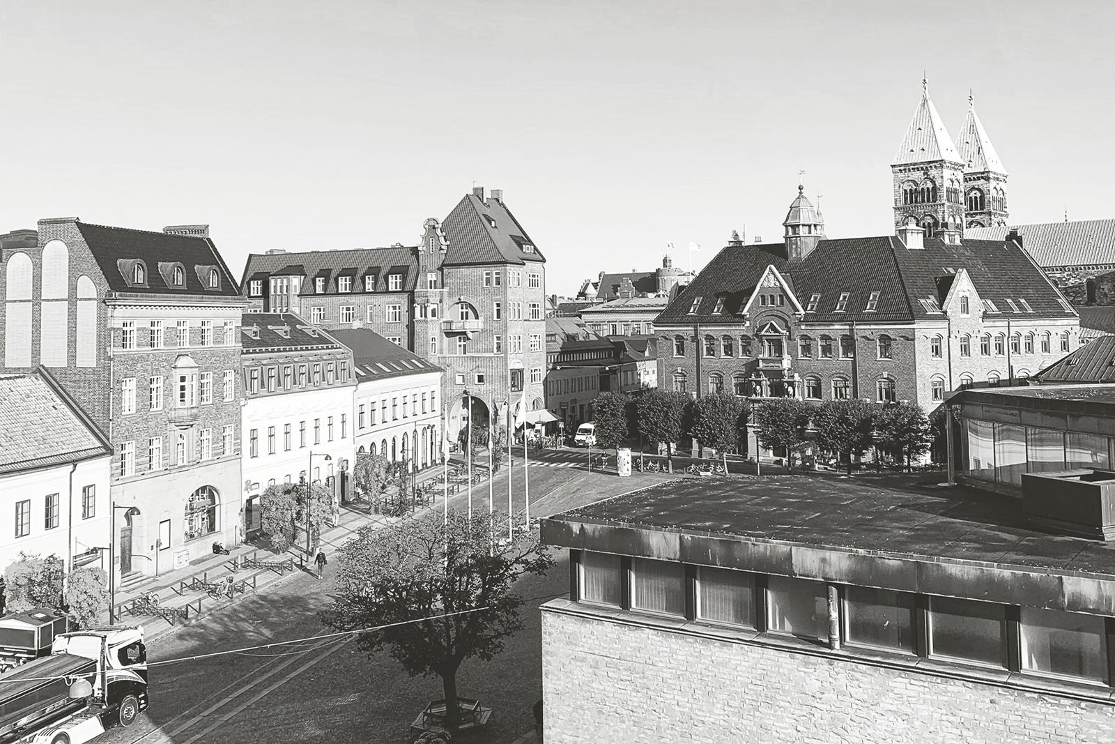 Utsikt från Stortorgets Fysioklinik